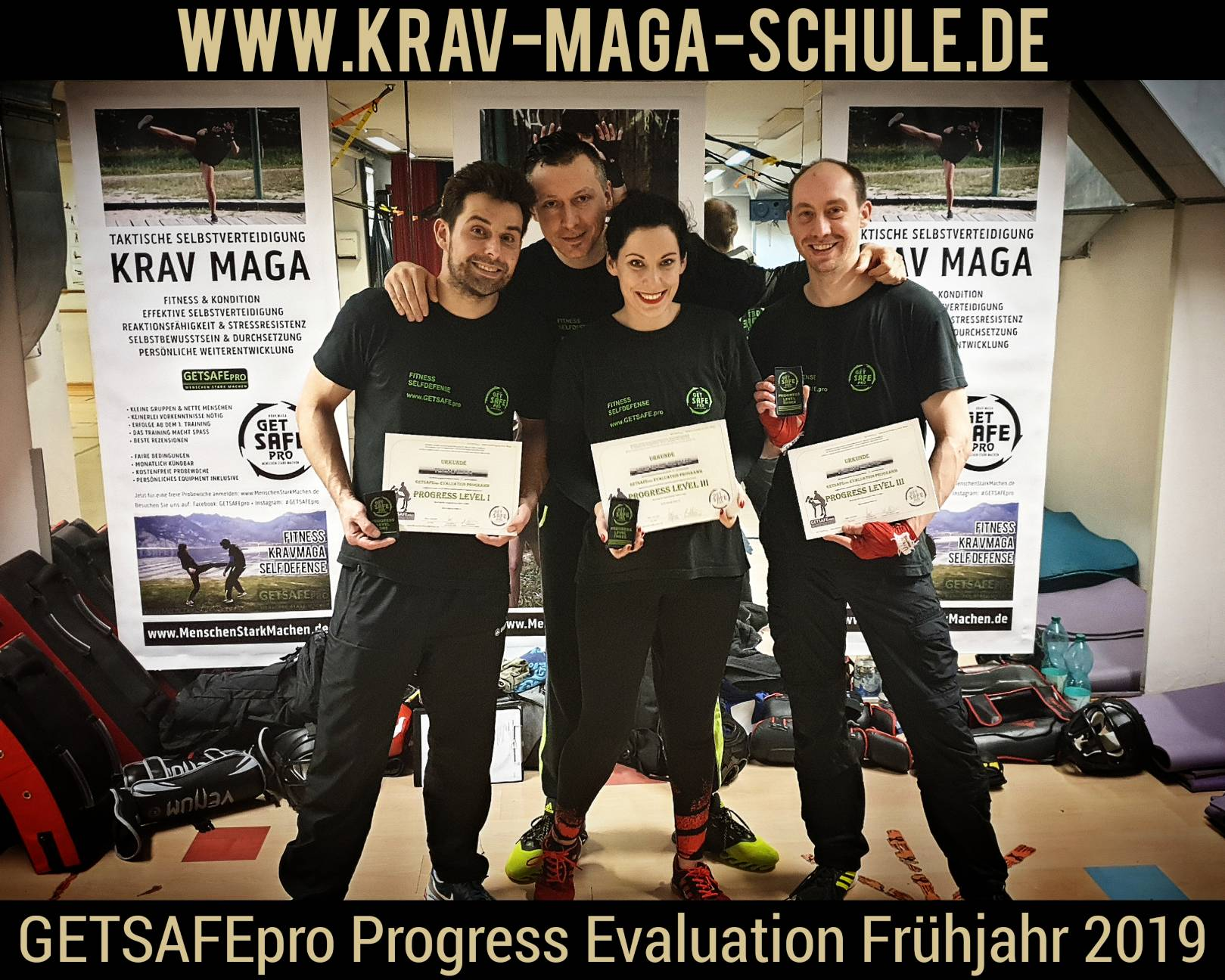 GETSAFEpro Krav Maga Prüfung Progress Evaluation Level Test (1)