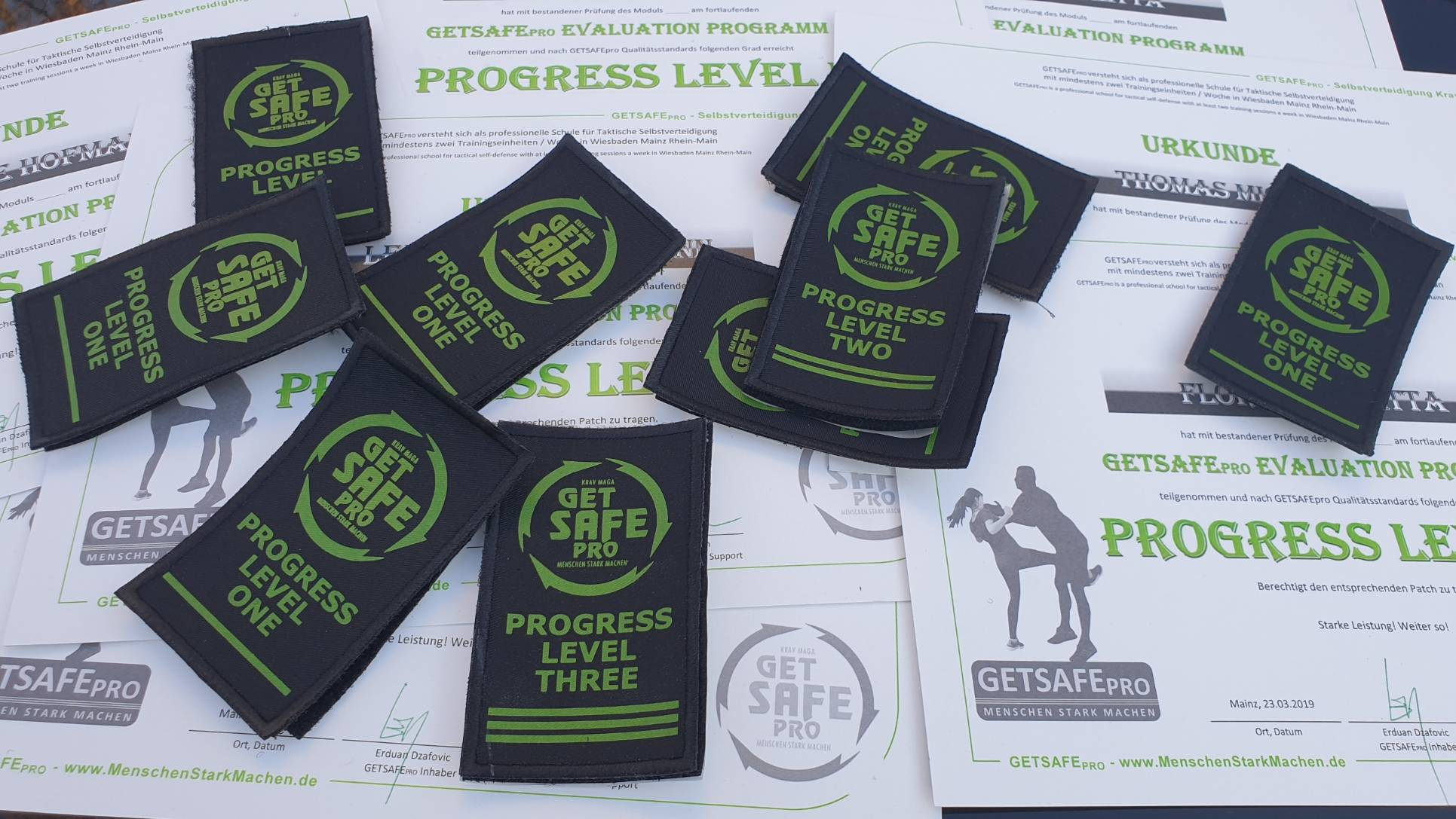 GETSAFEpro Krav Maga Selbstverteidigung Progress Evaluation Programm