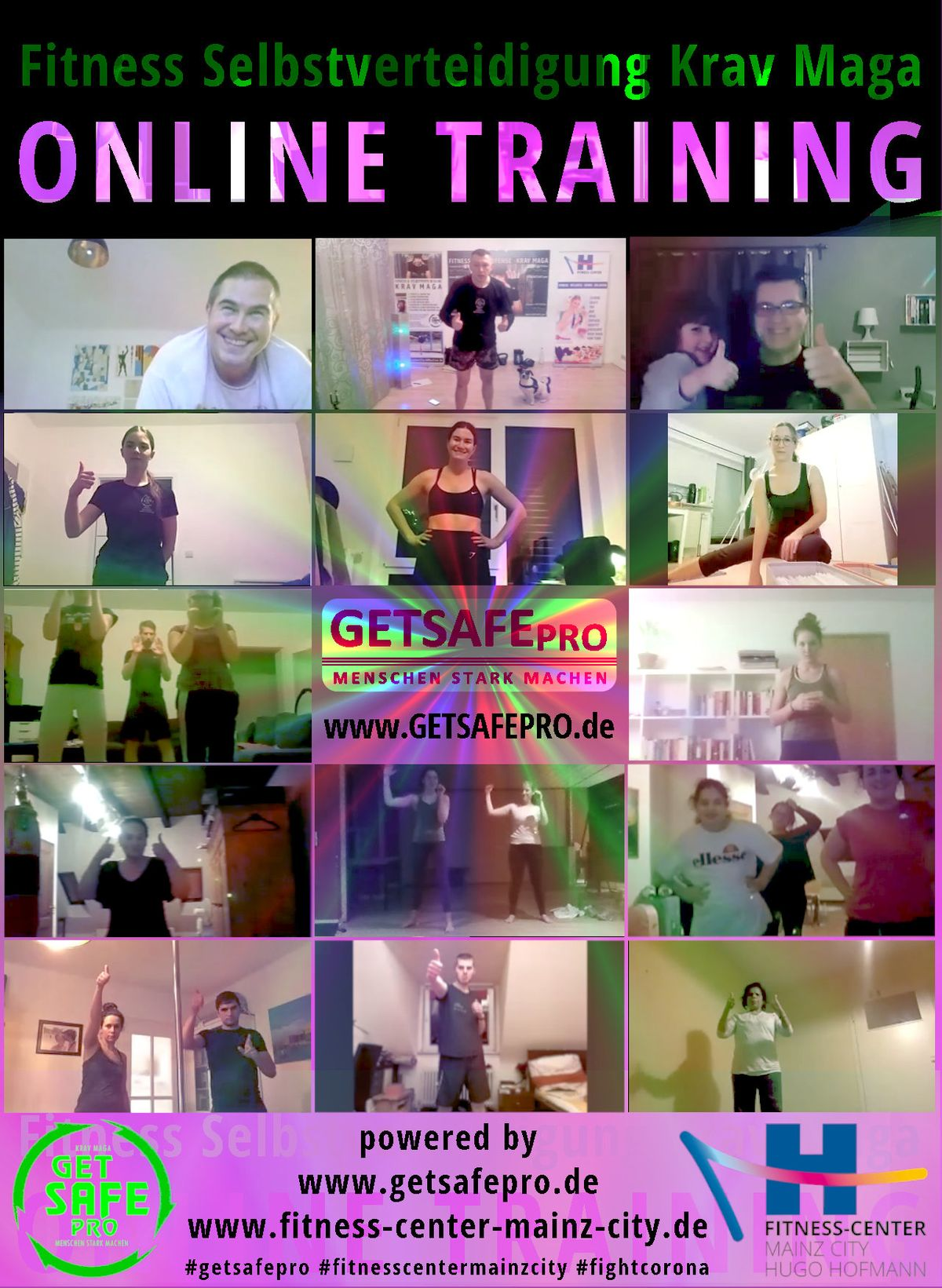 fitness selbstverteidigung online training in lockdown getsafepro fitess-center mainz city krav maga kampfsport